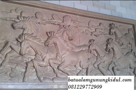 Relief Kuda, Ukiran Batu Alam Paras Jogja
