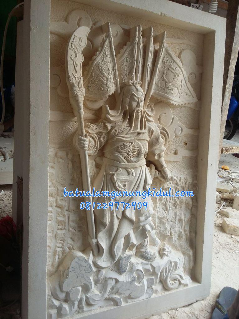 Relief Dewa ukiran dewa kwan kong